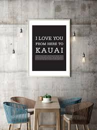 hawaii poster kauai art print hawaiian
