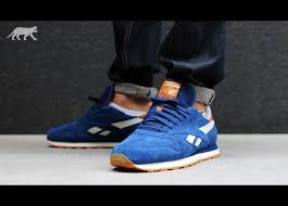 reebok classic leather suede club blue paperwhite reebok brass