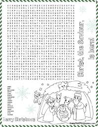 Small Picture Christmas Nativity Word Search Puzzle Printable Word search