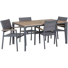 carbon oak 5 piece patio dining set z