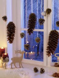 Bezaubernde Winter Fensterdeko Zum Selber Basteln Zapfen