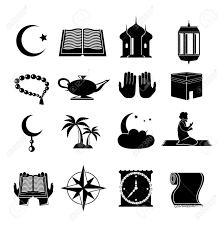 Traditional Symbols Islamic Church Muslim Spiritual Traditional Symbols Black Icons