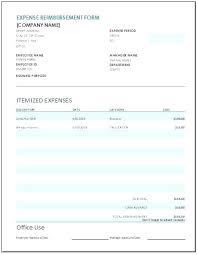 Expense Reimbursement Form Statement Letter Employee Template Claims