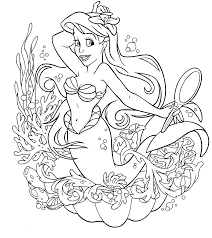 The Little Mermaid Coloring Pages Coloring