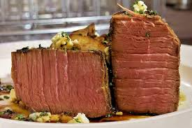 sous vide beef top round served as a