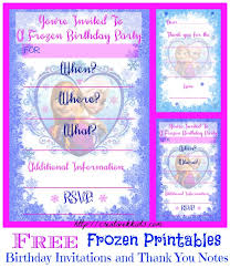elsa birthday invitations free frozen birthday party invitation and thank you printables