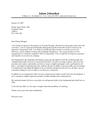 Amazing Cover Letter For Hotel Position Gallery Best Resume