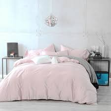 100 cotton duvet cover pillow cases 3pcs pale pink silver grey bedding 400tc 1 of 1free see more