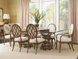 tropical dining room furniture. Aruba Dining Table With Glass Top Tropical Room Furniture C
