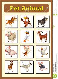 Pet Animal Chart Stock Illustration Illustration Of Bull