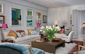 eclectic style furniture. Bright Pink Lamp Shades And White Living Room Furniture For Design In Eclectic Style E