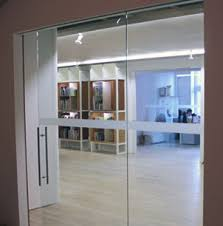 Etched Glass Bands On Doors And Glas Office Walls