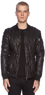Scotch & Soda Quilted Leather Bomber Jacket | Where to buy & how ... & ... Scotch & Soda Quilted Leather Bomber Jacket ... Adamdwight.com