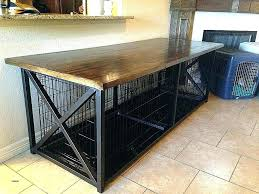 dog crate furniture wood cover diy table top how to make a end wooden table dog crate