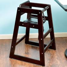 wooden restaurant high chair with tray