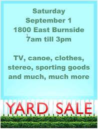 Garage Sale Sign Printable Parkbysms Info