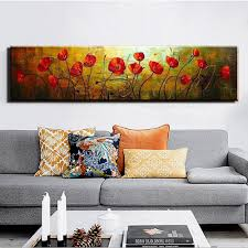 Large Living Room Paintings Compare Prices On Large Poppy Painting Online Shopping Buy Low