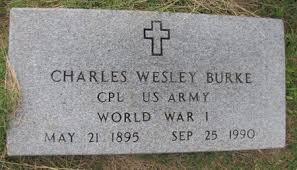 BURKE (VETERAN WWI), CHARLES WESLEY - Lafayette County, Arkansas | CHARLES WESLEY  BURKE (VETERAN WWI) - Arkansas Gravestone