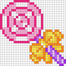 One with a square tip and one with a round tip. Sucette Pixel Art Perles A Tisser Motifs Perler