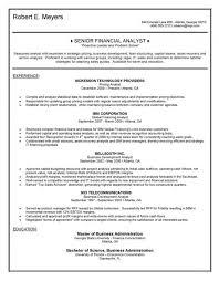 Senior Financial Analyst Resume Sample Financial Analyst Resume Examples Peoplewho Us