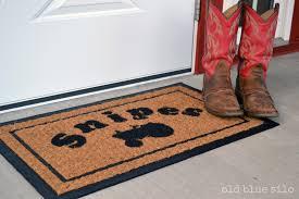 personalized front door matsOld Blue Silo DIY custom front door mat