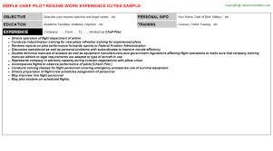 Chief Pilot Resume Resumes Templates Jobdescriptionsandduties Com