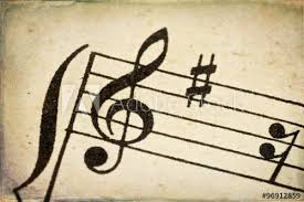 Treble Clef Music Sheet Treble Clef On Vintage Music Sheet Buy This Stock Photo And