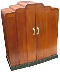 very rare 1930s art deco linen press in oak featuring 7 massive drawers and original antique art deco bedroom furniture