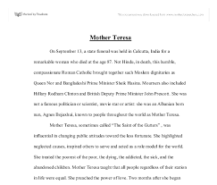 essays about mother teresa life mother teresa short english essay for kids of class 1 to 5