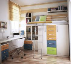Small Bedroom Bunk Beds Bedroom Bunk Bed With Closet At Bottom As Holder Of The Bunk Bed