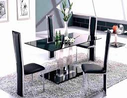 Full Size of Enjoyable Black Glass Rectangle Two Base Modern Dining Table  And Contemporary Metal Bases ...