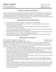 Sample Resume Red Seal Recruiting