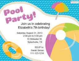 Free Pool Party Invitations Printable Pool Party Invitations Lovetoknow