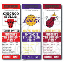 Admit One Ticket Template Free Inspiration Basketball Ticket Stub Digital Invitation Any Team By Template