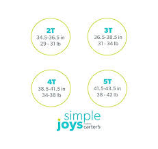 Simple Joys Carters Size Chart Simple Joys By Carters Toddler Girls 3 Pack Graphic Long Sleeve Tees