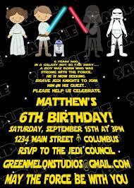 Star Wars Scroll Jedi Birthday Party Printable Invitations
