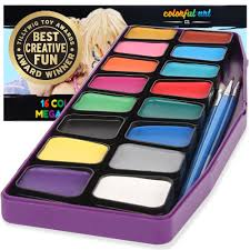 award winning face paint kit for kids professional mega16 color palette best face painting party