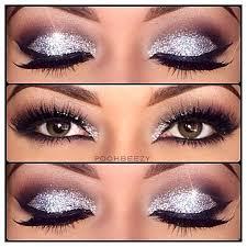 silver sparkle eye makeup