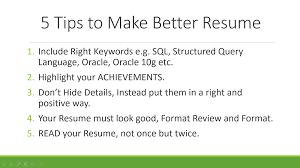 5 Resume Writing Tips