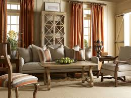 Living Room: French Country Living Room Ideas Multicolors Cushions White  Sofa Chairs