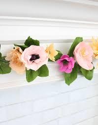 Paper Flower Garland Make A Crepe Paper Flower Garland A Beautiful Mess