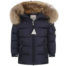 Moncler Baby Boys Navy Down Byron Coat