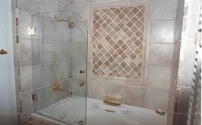 Fixed glass shower panel