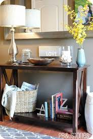 sofa table decor. Decorating Console Table Sofa Decor I Want To Add A Big Mirror Behind Ours