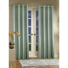 full size of modern pastel green black out curtains with chromed iron rod as well sliding
