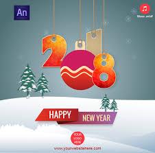 Happy New Year 2018 Greeting Card By Waqasali201 Codecanyon