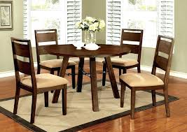 48 round dining table set furniture w 4 side chairs glass