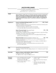 Resume Profile Examples For Recent College Graduates On Example Of