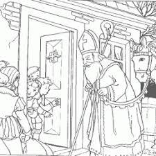 Kleurplaat Sinterklaas Aan Voordeur Kleurplaatarchiefnl