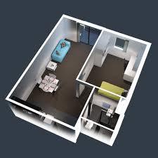 Modern One Bedroom Apartment Design Plans 3D Picture 1 Bedroom Apartment House  Plans Basic Rectangular House